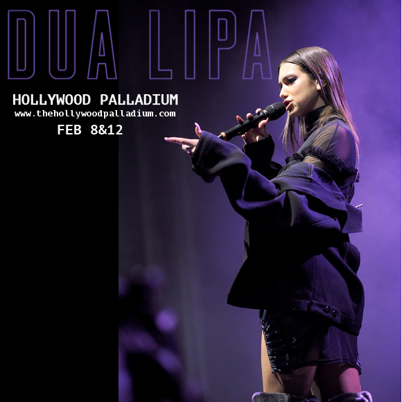 Dua Lipa at Hollywood Palladium