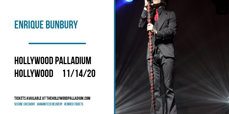 Enrique Bunbury [POSTPONED] at Hollywood Palladium